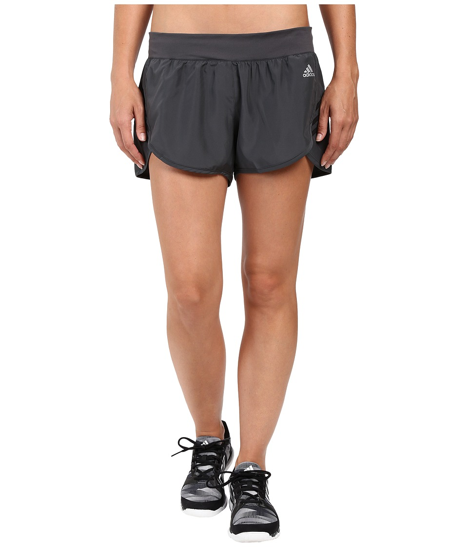 adidas - Ultimate Woven Shorts (DGH Solid Grey/Black) Women's Shorts