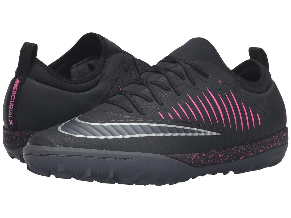 Nike - MercurialX Finale II TF (Black/Pink Blast/Gum Light Brown/Black) Men's Soccer Shoes