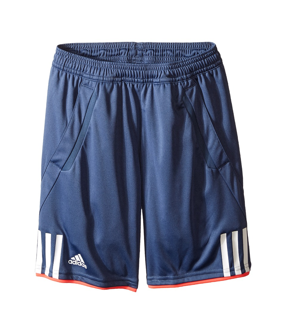 adidas Kids - Club Bermuda (Little Kids/Big Kids) (Tech Ink/White/Flash Red) Boy's Shorts