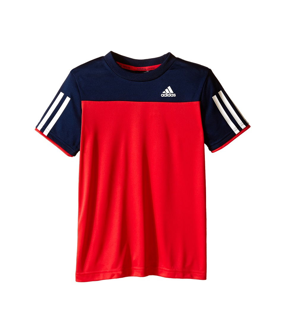 adidas Kids - Club Tee (Little Kids/Big Kids) (Ray Red/Collegiate Navy/White) Boy's Short Sleeve Pullover