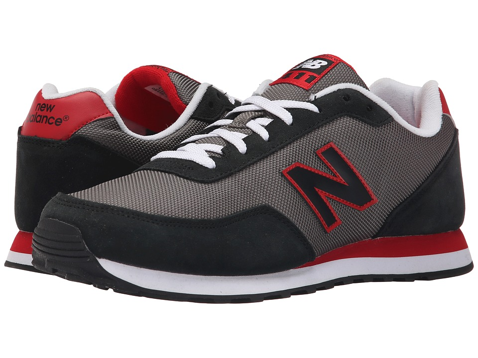 New Balance - ML411 (Black/Red) Men's Shoes