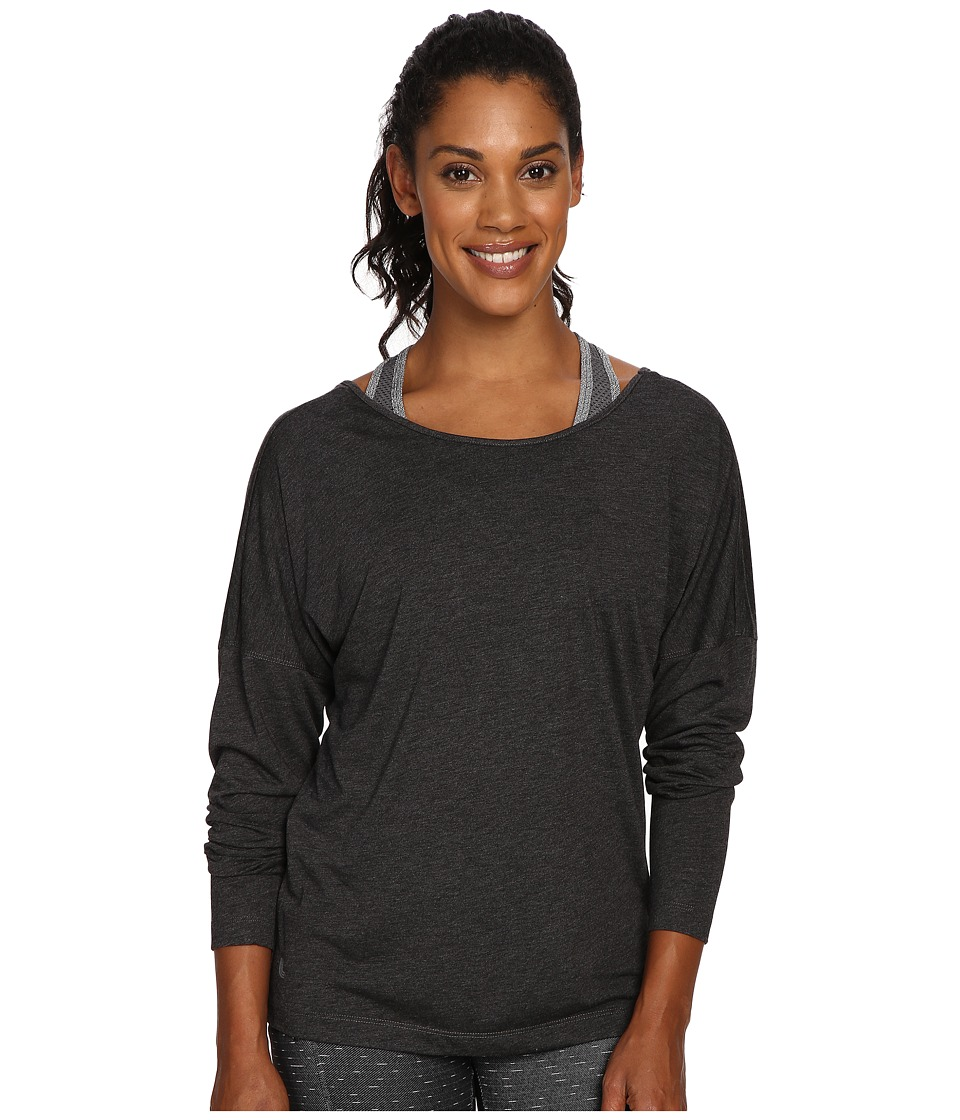 Lole - Libby Long Sleeve Top (Black Heather) Women's Long Sleeve Pullover