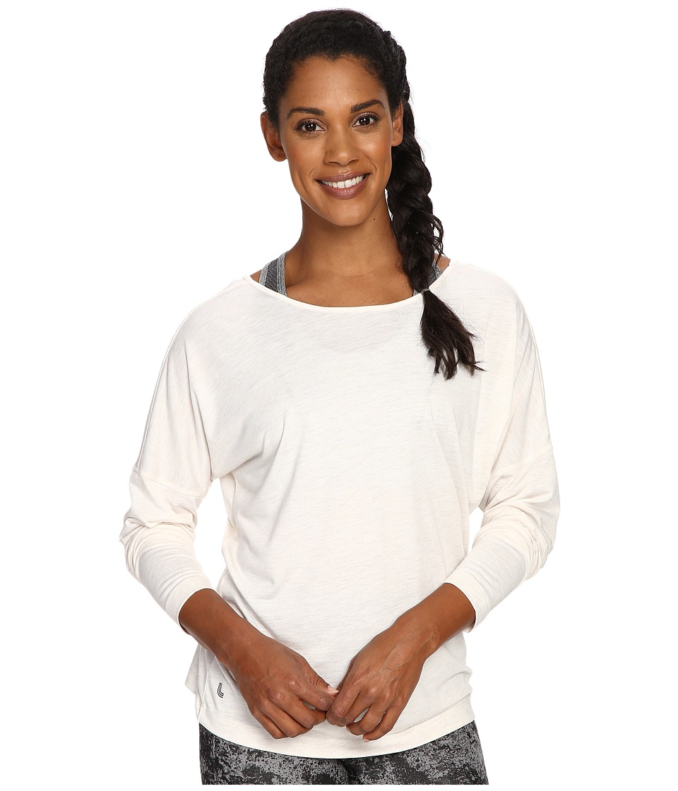 Lole - Libby Long Sleeve Top (White Heather) Women's Long Sleeve Pullover