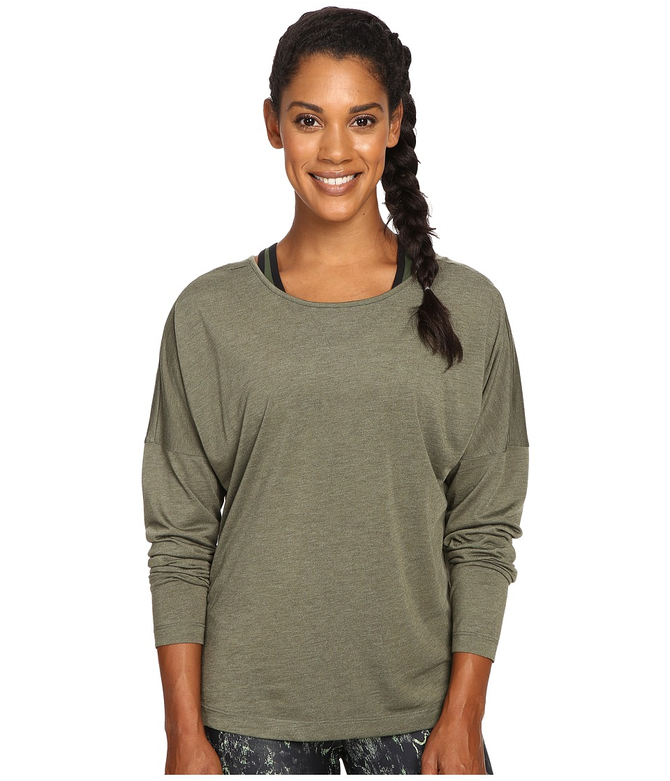 Lole - Libby Long Sleeve Top (Khaki Heather) Women's Long Sleeve Pullover