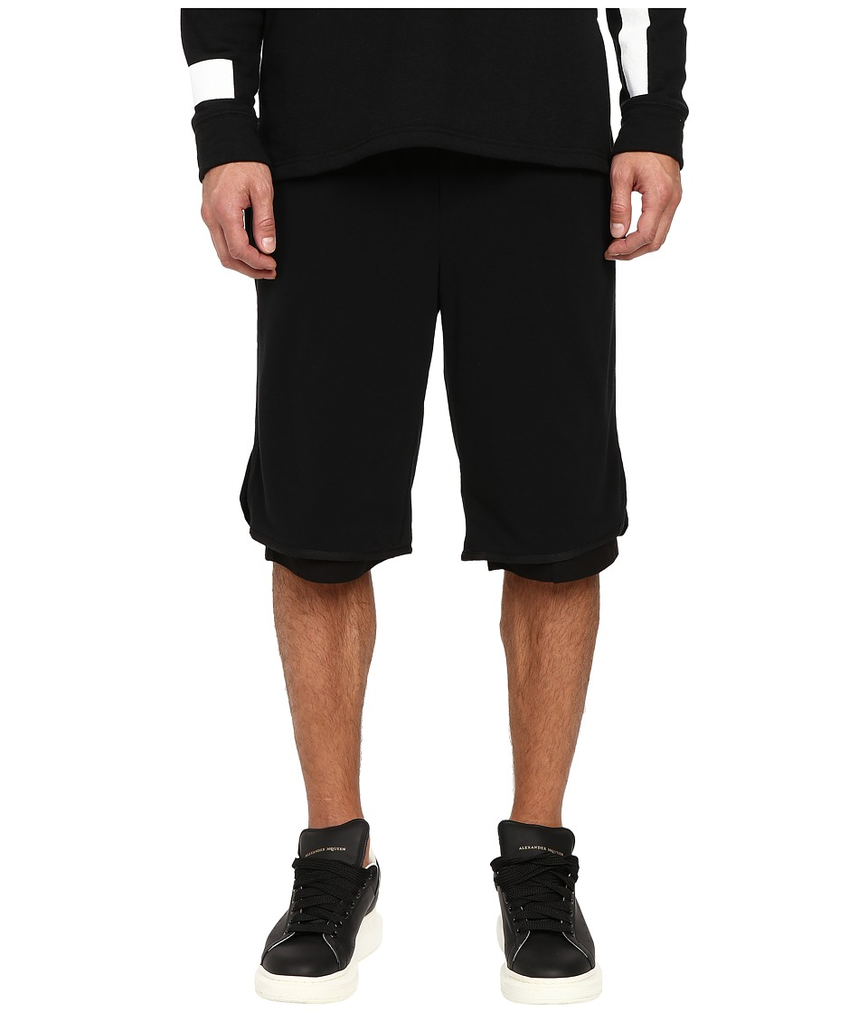 DBYD - Mesh Layered Jersey Shorts (Black) Men's Shorts