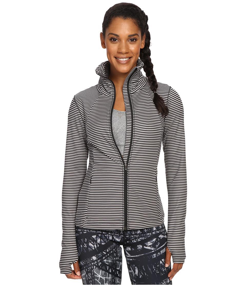 Lole - Essential Cardigan (Black Stripe) Women's Long Sleeve Pullover