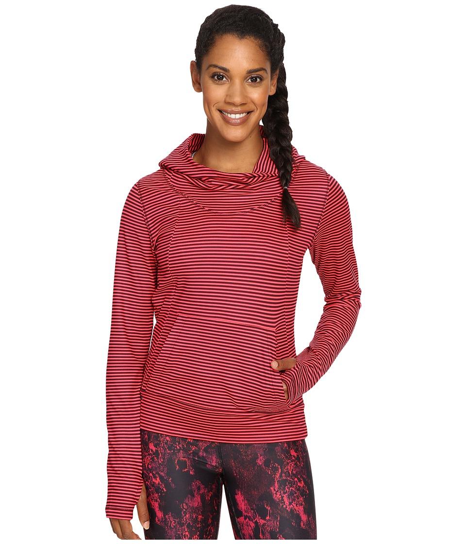 Lole - Esma Hoodie (Reflector Pink Stripe) Women's Sweatshirt