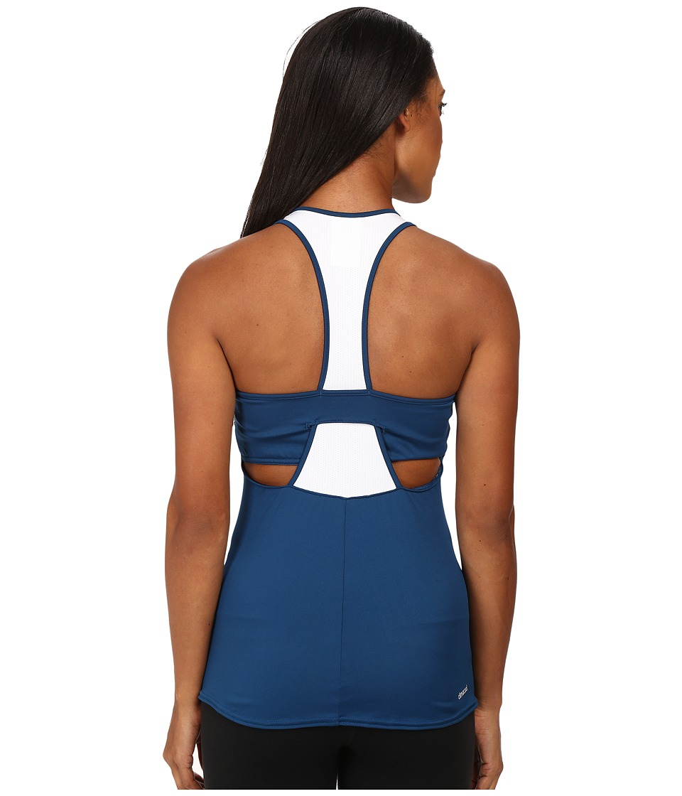 adidas - Pro Tank Top (Tech Steel/White) Women's Sleeveless
