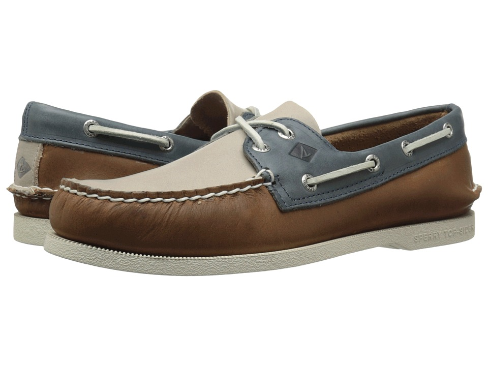 Sperry Top-Sider - A/O 2-Eye Sarape (Tan/Blue) Men's Lace up casual Shoes