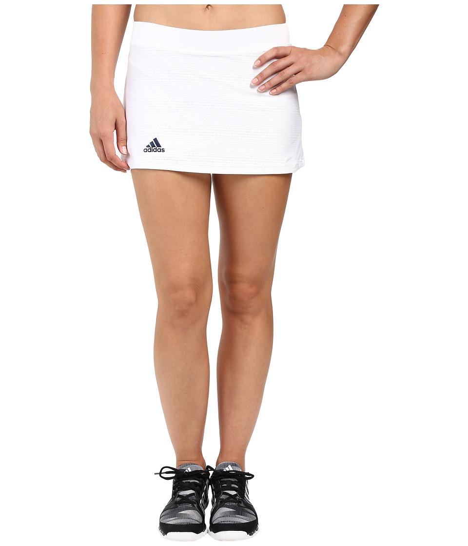 adidas - Club Primefit Skort (White/Collegiate Navy) Women's Skort