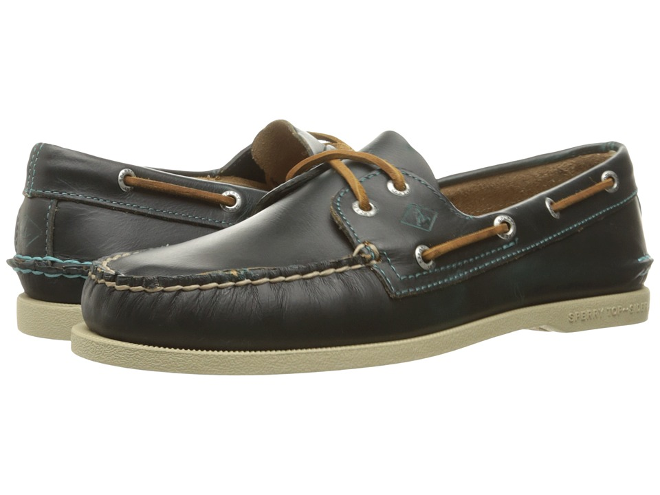 Sperry - A/O 2-Eye Waterloo (Blue) Men's Lace Up Moc Toe Shoes