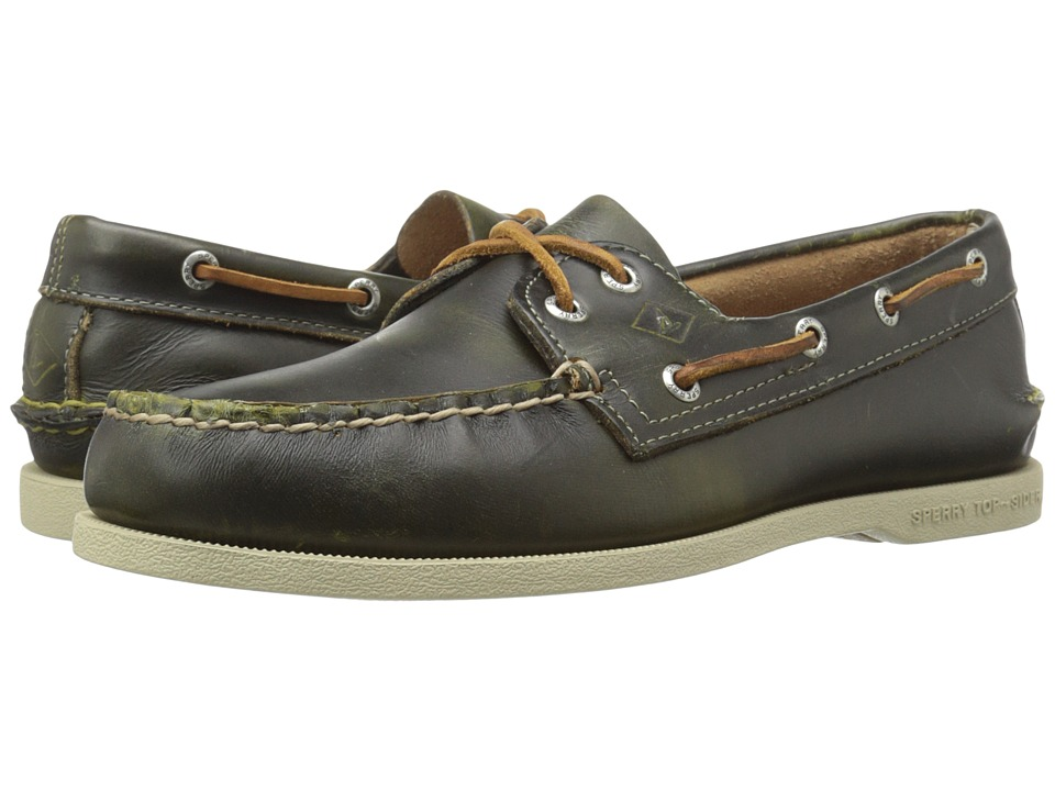 Sperry - A/O 2-Eye Waterloo (Green) Men's Lace Up Moc Toe Shoes