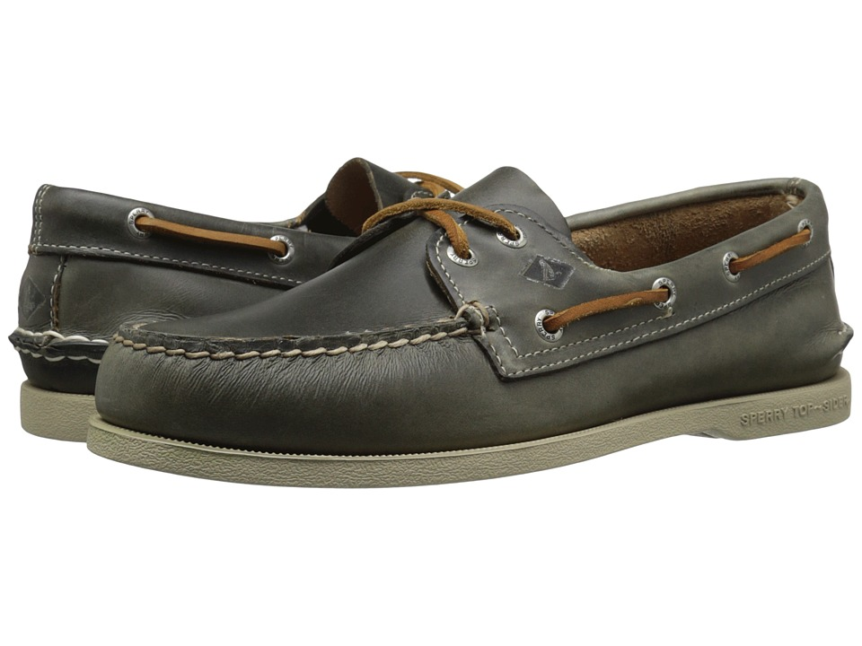Sperry - A/O 2-Eye Waterloo (Grey) Men's Lace Up Moc Toe Shoes