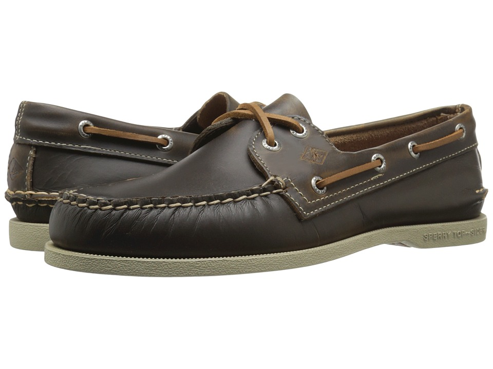Sperry - A/O 2-Eye Waterloo (Tan) Men's Lace Up Moc Toe Shoes