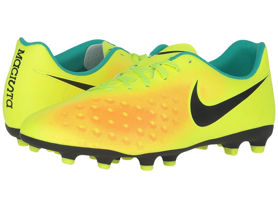 Nike - Magista OLA II FG (Volt/Total Orange/Clear Jade/Black) Men's Shoes