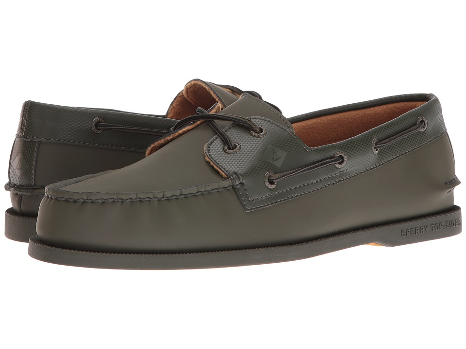 Sperry Top-Sider - A/O 2-Eye Storm (Olive) Men's Lace Up Moc Toe Shoes