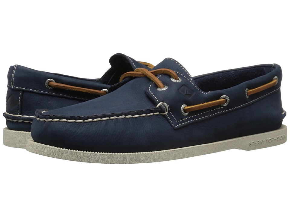 Sperry - A/O 2-Eye Cross Lace (Navy) Men's Lace up casual Shoes