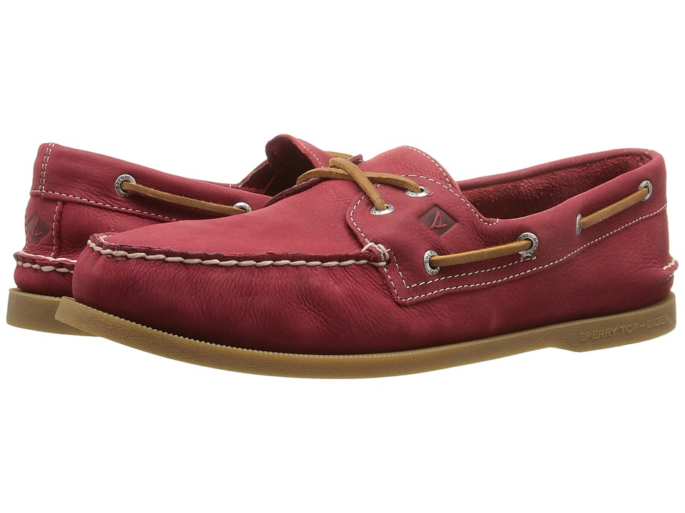 Sperry - A/O 2-Eye Cross Lace (Red) Men's Lace up casual Shoes