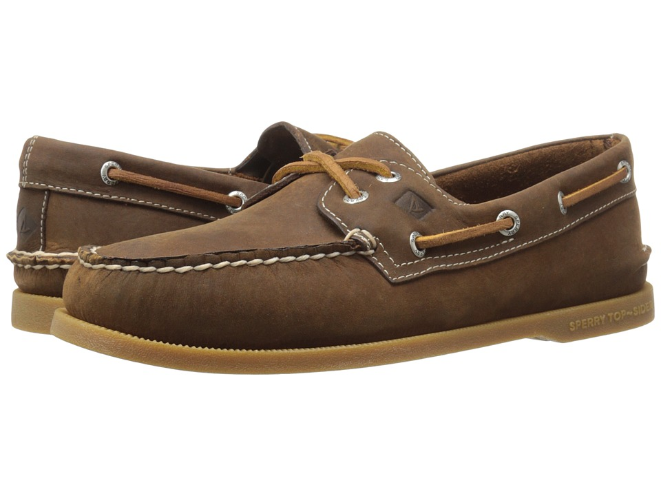 Sperry - A/O 2-Eye Cross Lace (Brown) Men's Lace up casual Shoes