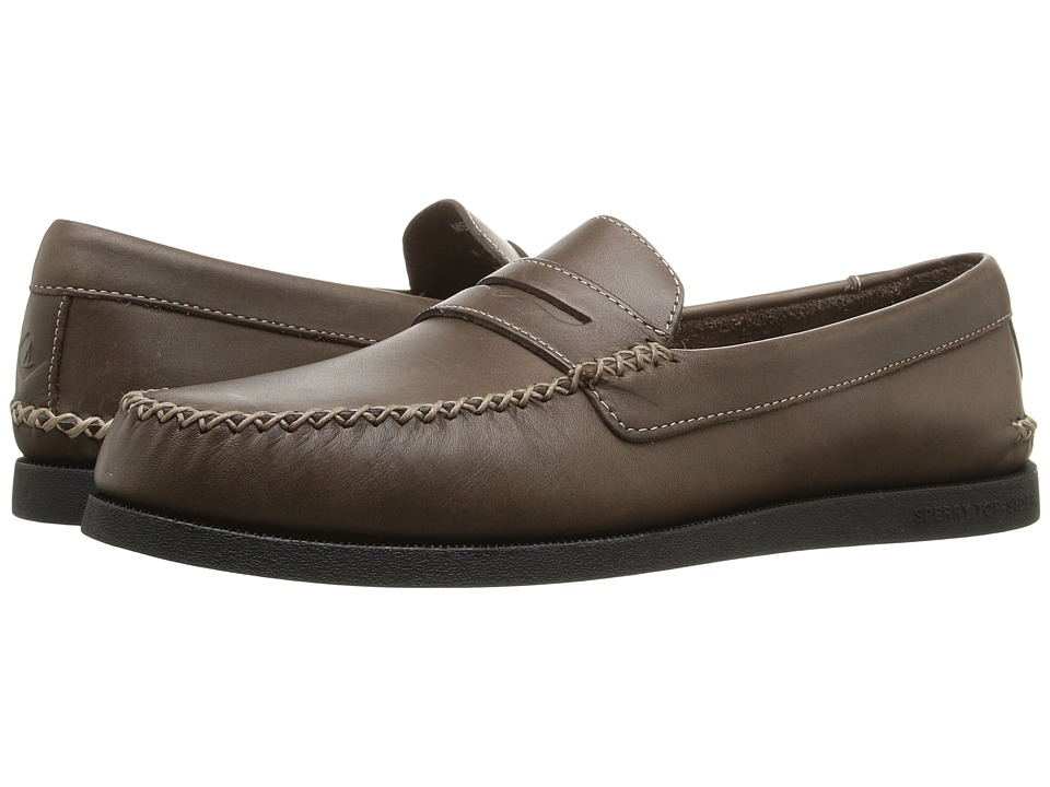 Sperry - A/O Wedge Penny (Brown) Men's Lace Up Moc Toe Shoes