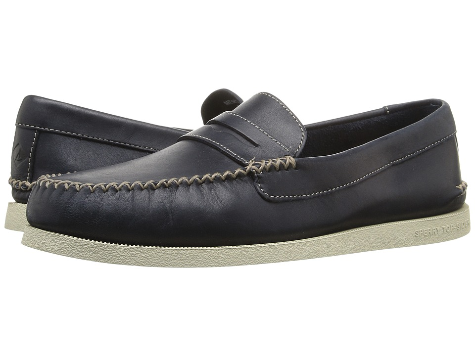 Sperry - A/O Wedge Penny (Navy) Men's Lace Up Moc Toe Shoes