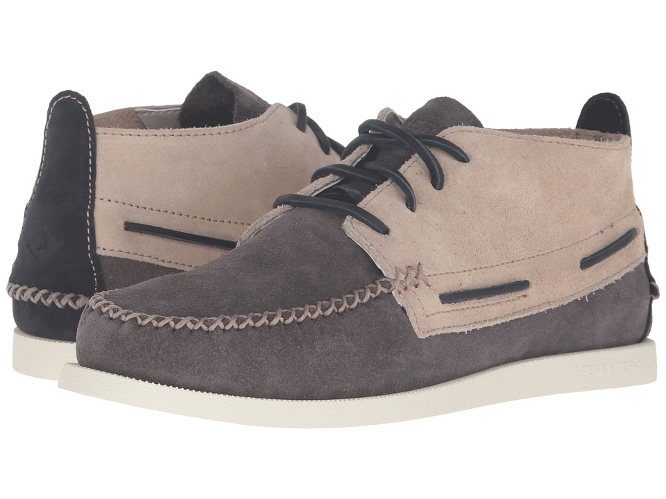 Sperry - A/O Wedge Chukka Suede (Grey/White) Men's Lace up casual Shoes