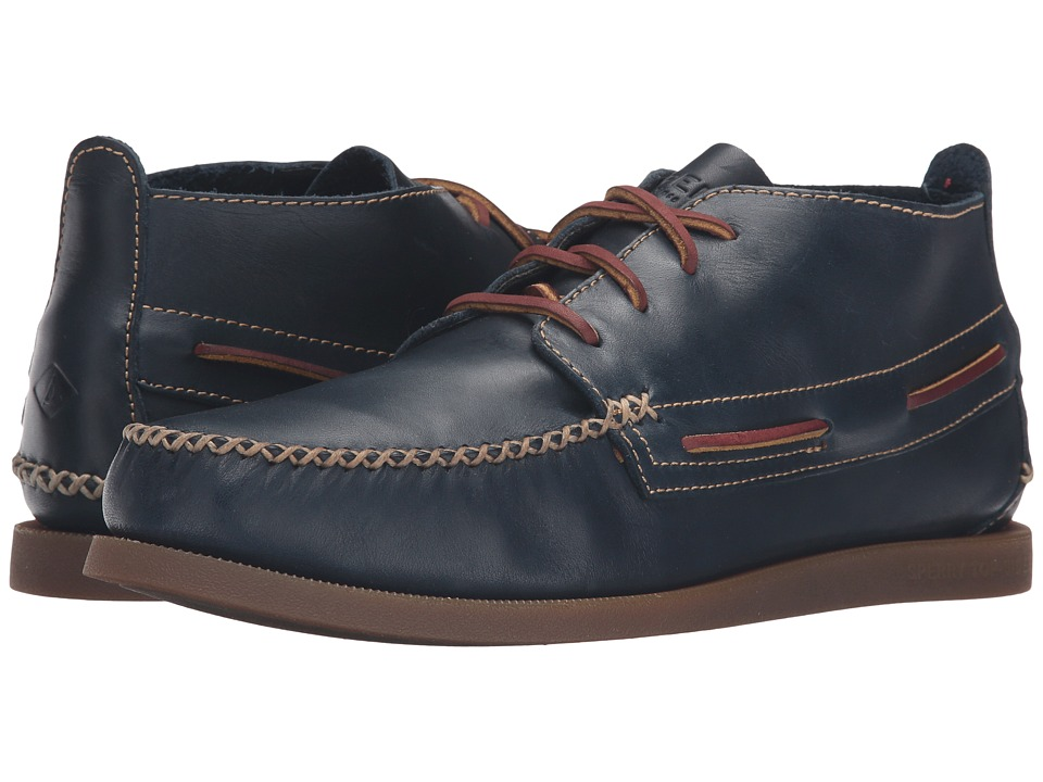 Sperry - A/O Wedge Chukka Leather (Navy) Men's Lace up casual Shoes