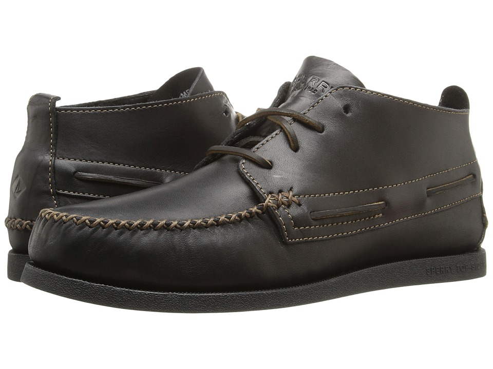 Sperry - A/O Wedge Chukka Leather (Black) Men's Lace up casual Shoes