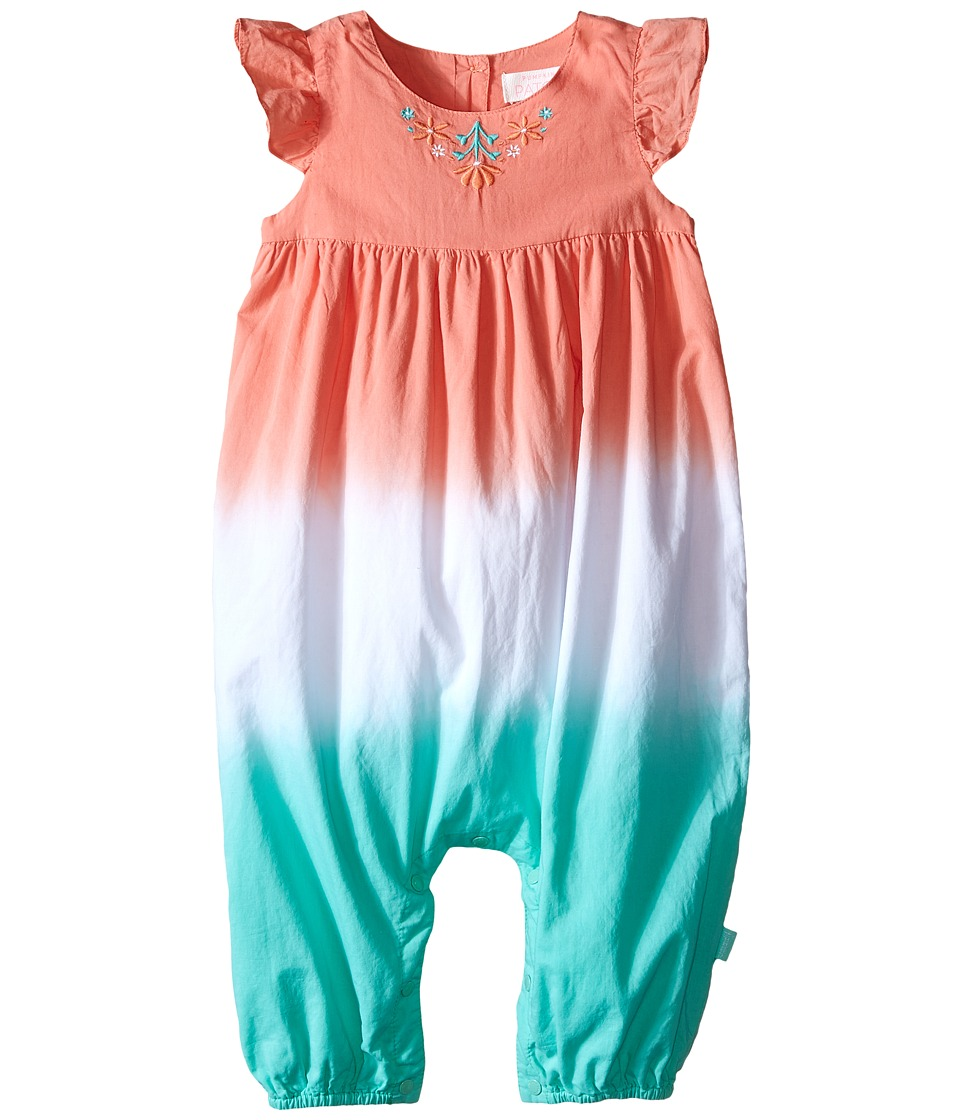 Pumpkin Patch Kids - Dip Dye All in One (Infant) (Opal) Girl's Jumpsuit & Rompers One Piece