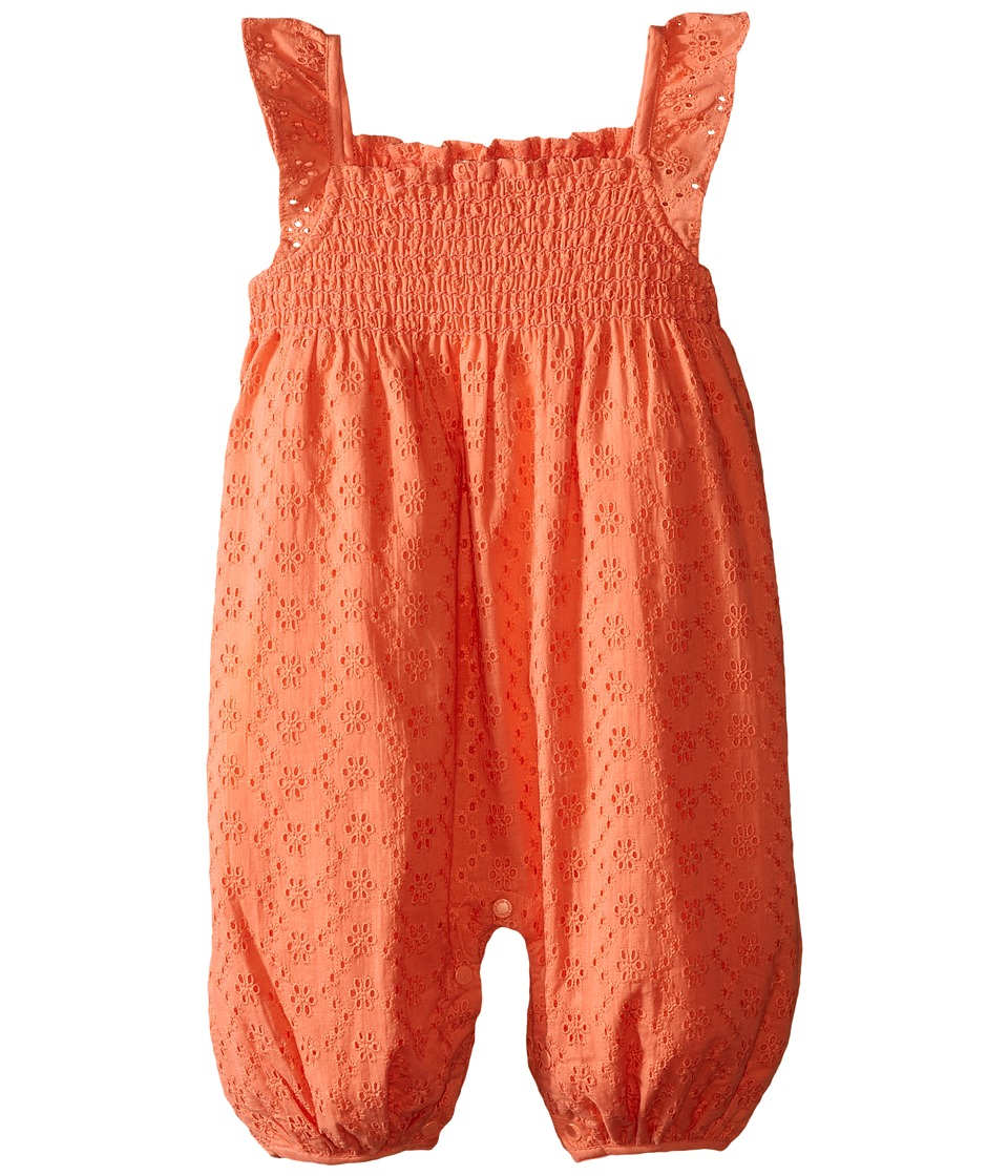 Pumpkin Patch Kids - Broderie All in One (Infant) (Melon) Girl's Jumpsuit & Rompers One Piece