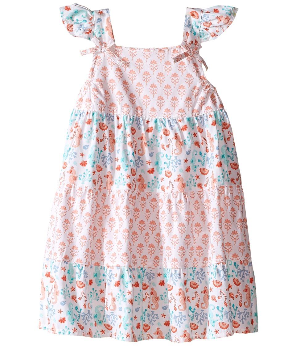 Pumpkin Patch Kids - Tile Print Tiered Dress (Infant) (Opal) Girl's Dress