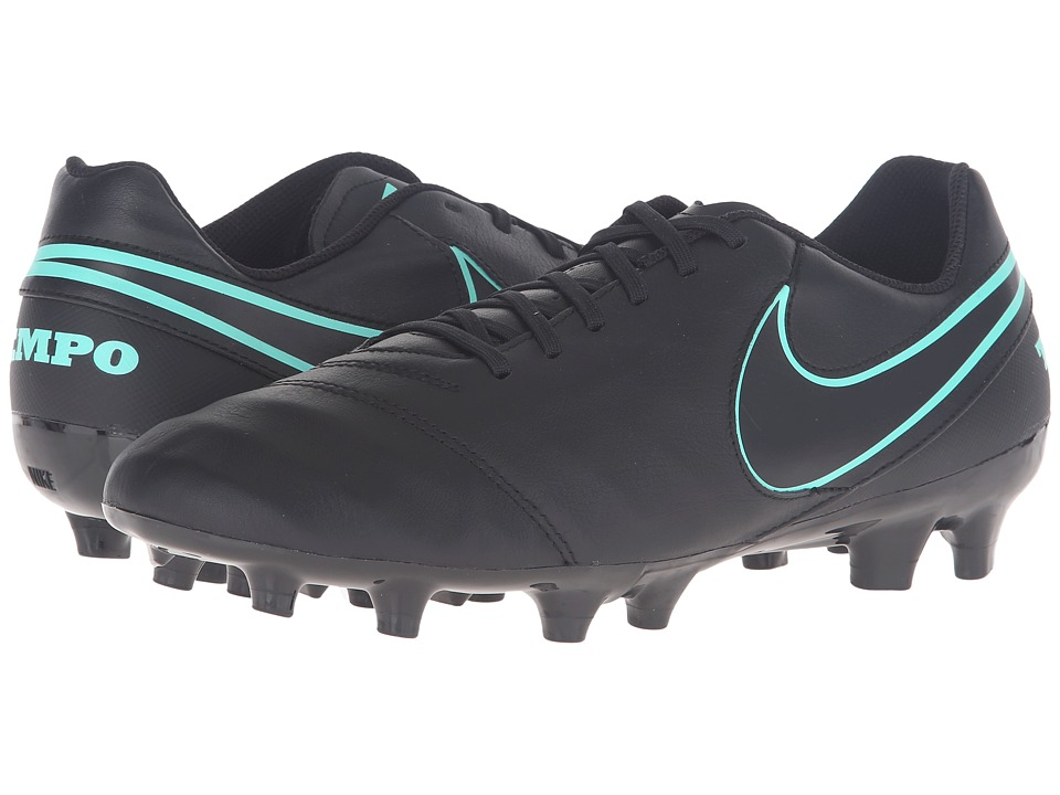 Nike - Tiempo Genio II Leather FG (Black/Black) Men's Soccer Shoes