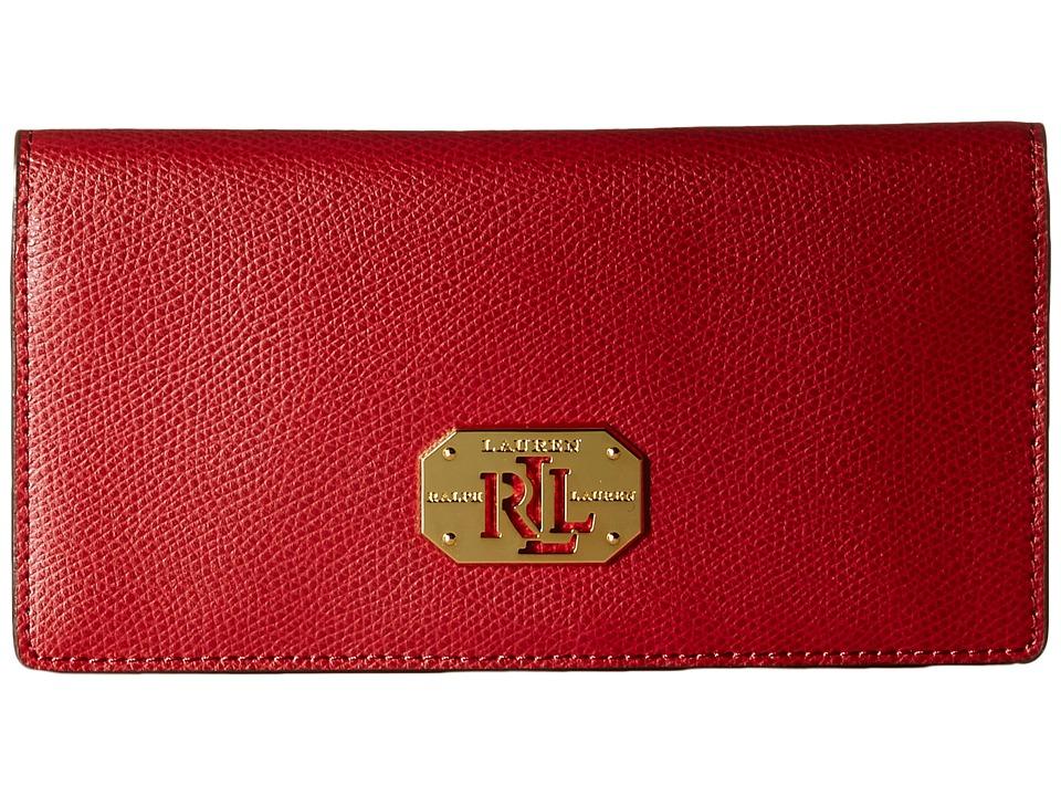 LAUREN by Ralph Lauren - Slim Wallet (Fall Red) Wallet Handbags