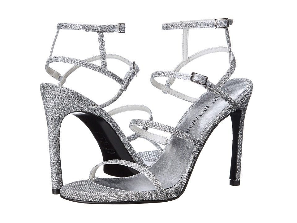Stuart Weitzman Bridal & Evening Collection - Courtesan (Silver Noir) Women's Shoes