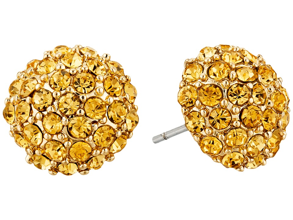 Betsey Johnson - Luminous Betsey Fireball Stud Earrings (Topaz) Earring