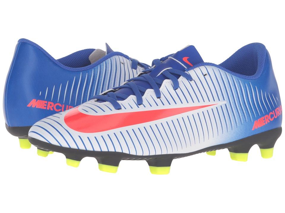 Nike - Mercurial Vortex III FG (White/Racer Blue/Volt/Bright Crimson) Women's Soccer Shoes