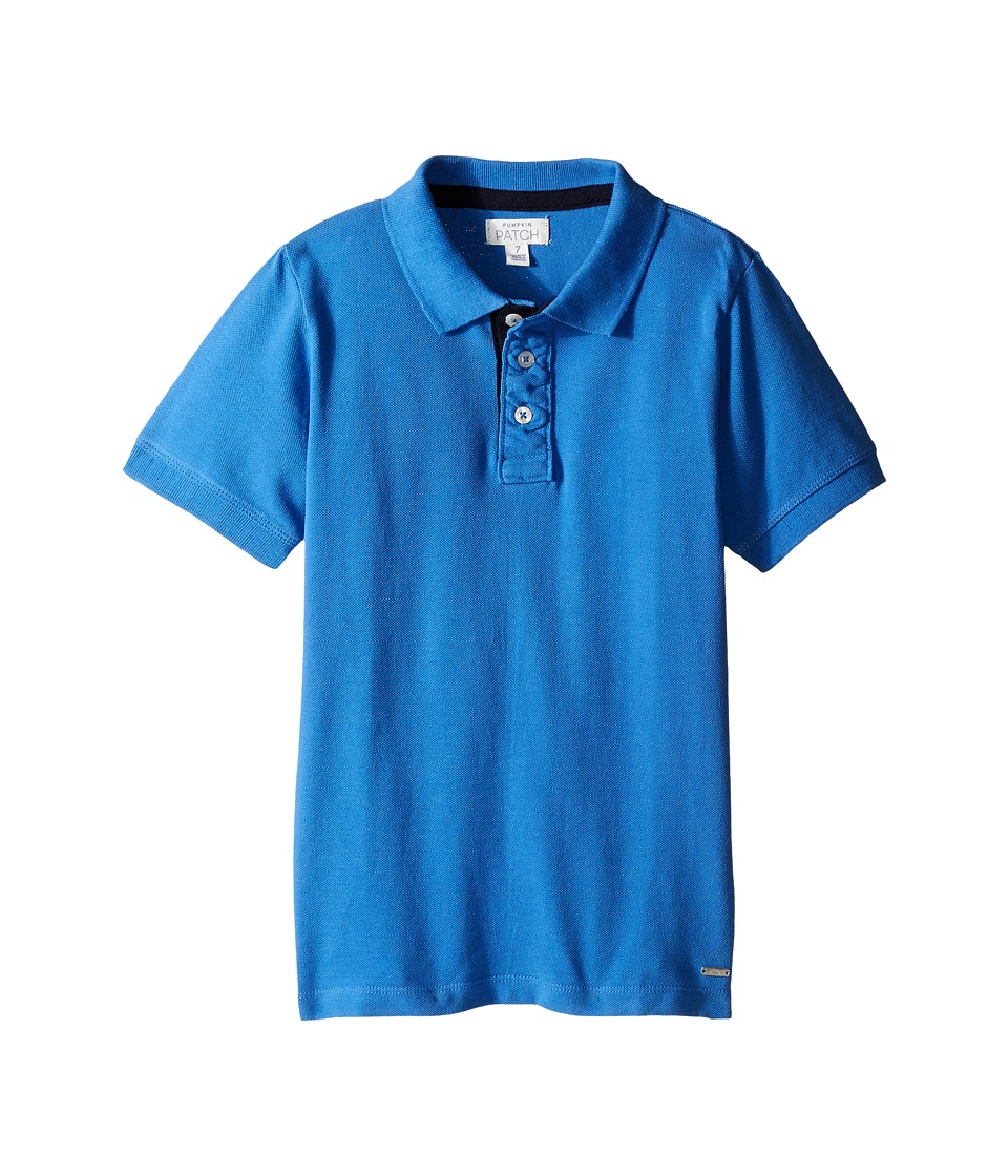 Pumpkin Patch Kids - Joseph Polo (Infant/Toddler/Little Kids/Big Kids) (Anchor Blue) Boy's Short Sleeve Pullover