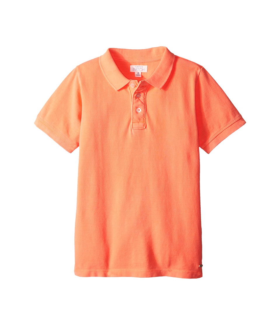 Pumpkin Patch Kids - Joseph Polo (Infant/Toddler/Little Kids/Big Kids) (Neon Orange) Boy's Short Sleeve Pullover