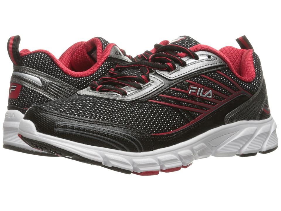 Fila - Forward 3 (Black/Dark Silver/Fila Red) Men's Shoes