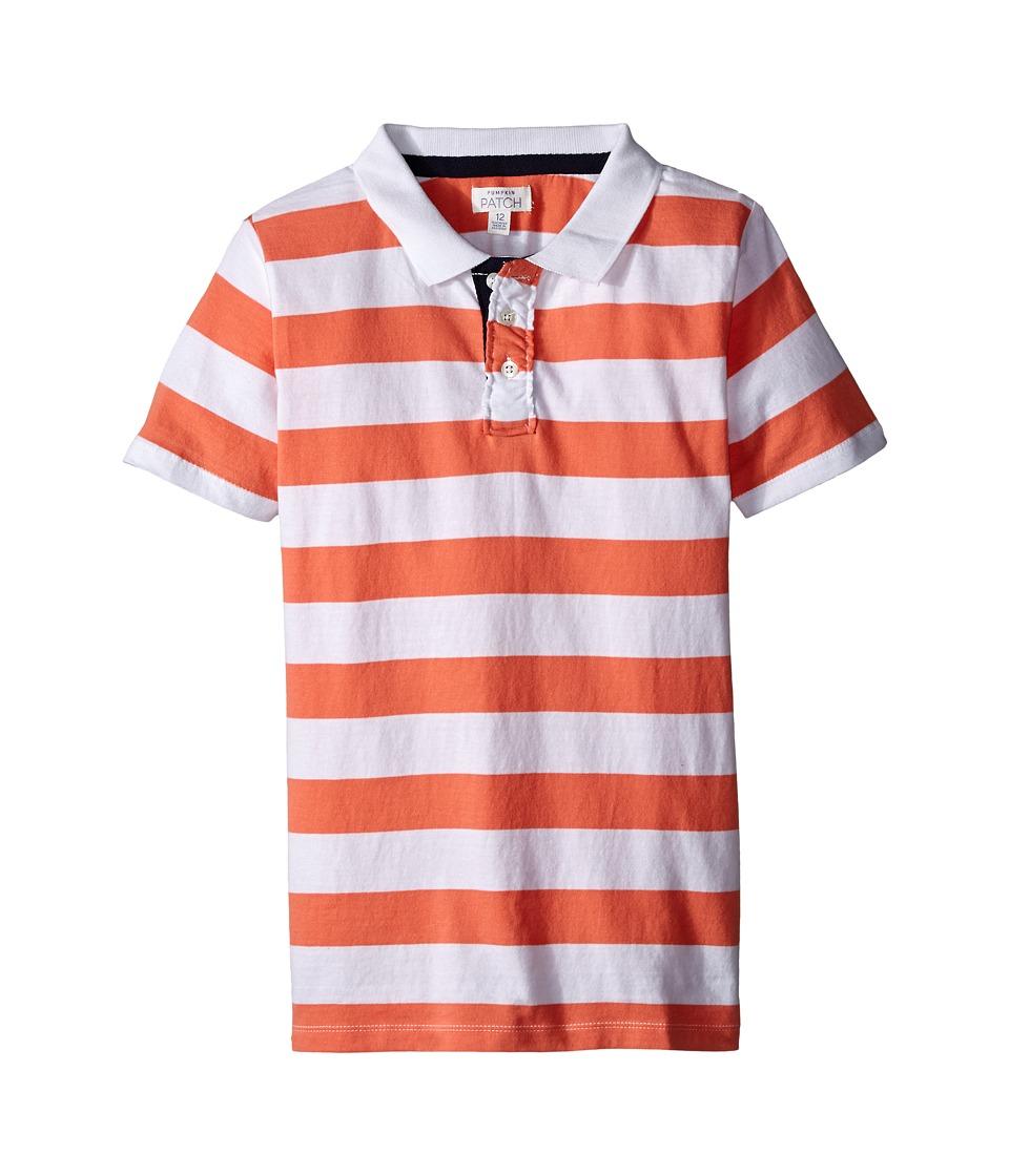 Pumpkin Patch Kids - George Stripe Polo (Infant/Toddler/Little Kids/Big Kids) (Sunset Orange) Boy's Short Sleeve Pullover