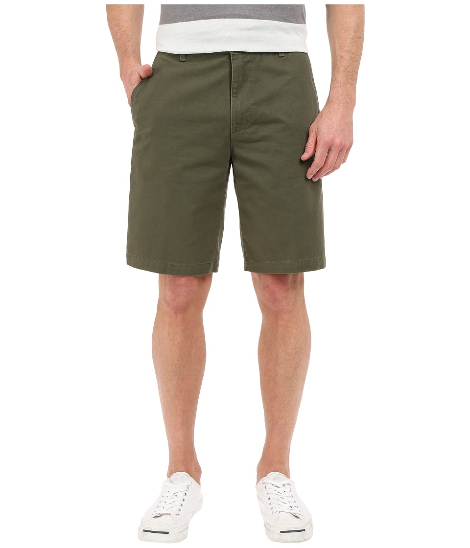 Dockers Men's - Perfect Short Classic Fit Flat Front (Dockers Olive) Men's Shorts