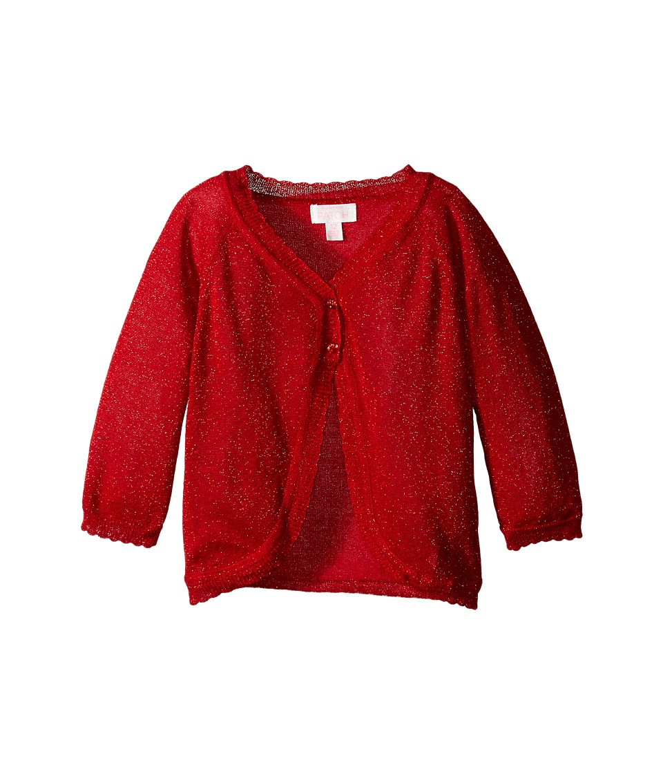 Pumpkin Patch Kids - Sparkly Cardigan (Infant/Toddler/Little Kids/Big Kids) (Mars Red) Girl's Sweater