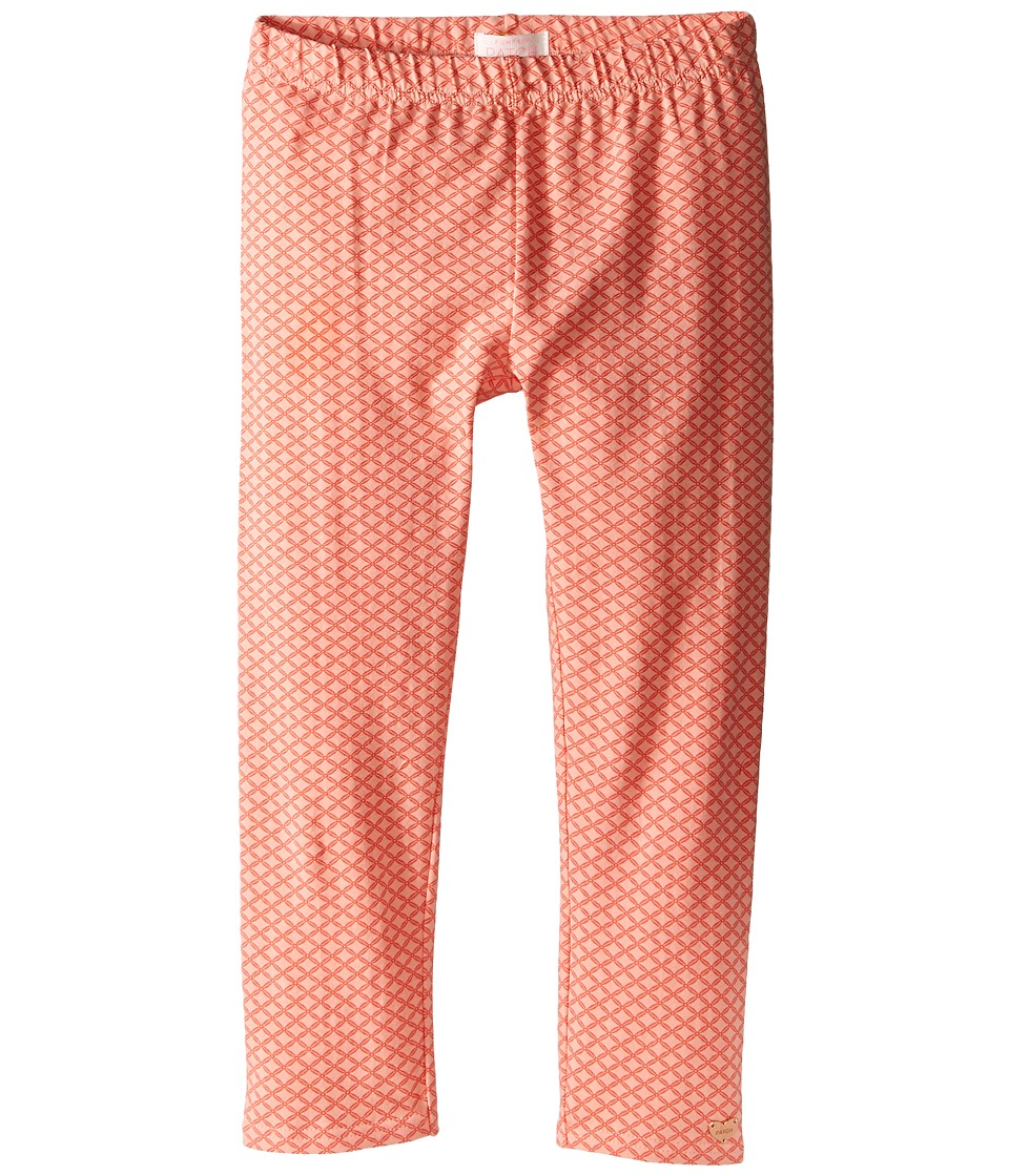 Pumpkin Patch Kids - Core Essentials Emily 3/4 Length Printed Leggings (Toddler/Little Kids/Big Kids) (Coral) Girl's Casual Pants