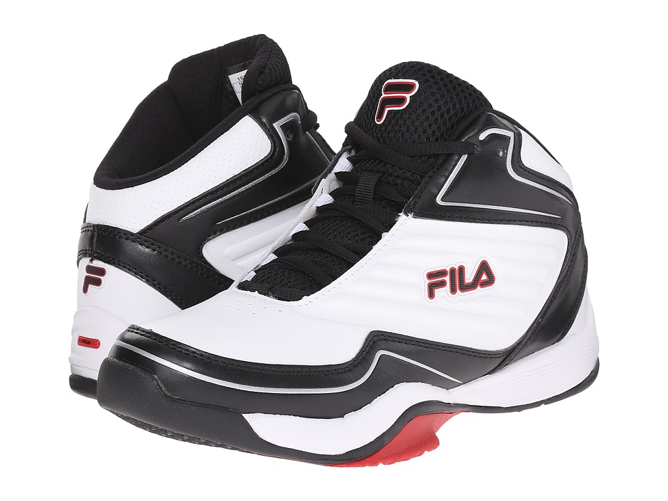 Fila - Import (White/Black/Fila Red) Women's Shoes