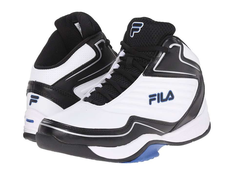 Fila - Import (White/Black/Prince Blue) Women