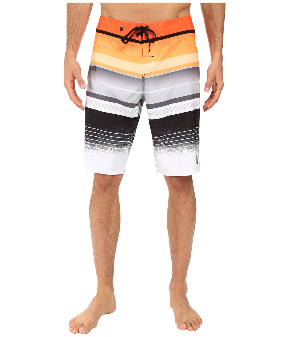 Quiksilver - Everyday Stripe Vee 21 Boardshorts (Shocking Orange) Men's Swimwear