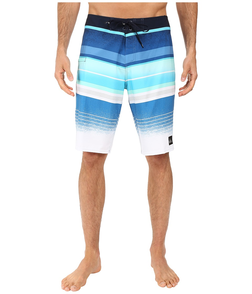 Quiksilver - Everyday Stripe Vee 21 Boardshorts (Navy Blazer) Men's Swimwear