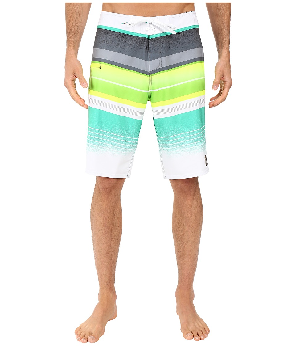 Quiksilver - Everyday Stripe Vee 21 Boardshorts (Tarmac) Men's Swimwear