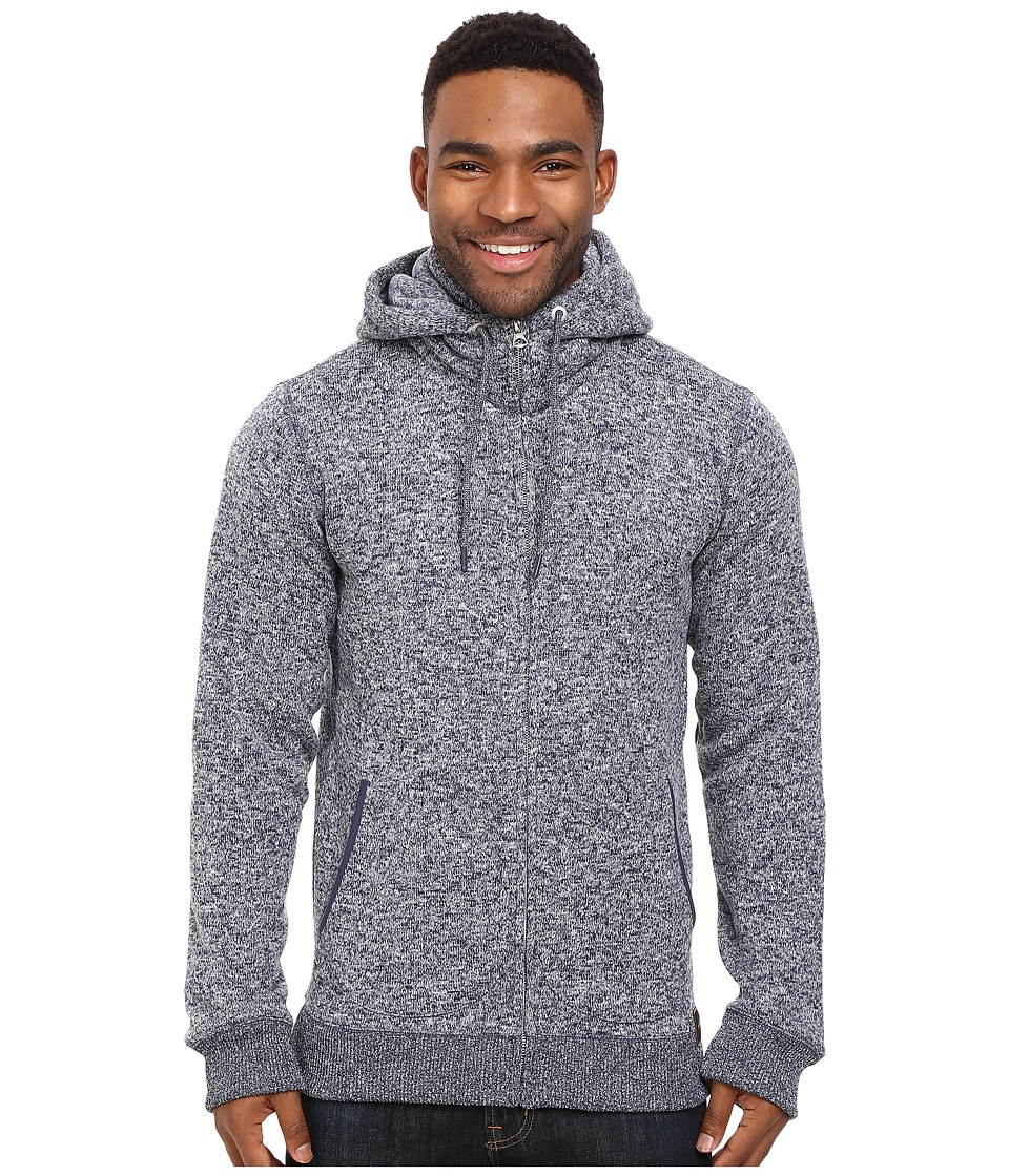 Quiksilver - Keller Zip Fleece (Night Shadow Blue) Men's Fleece