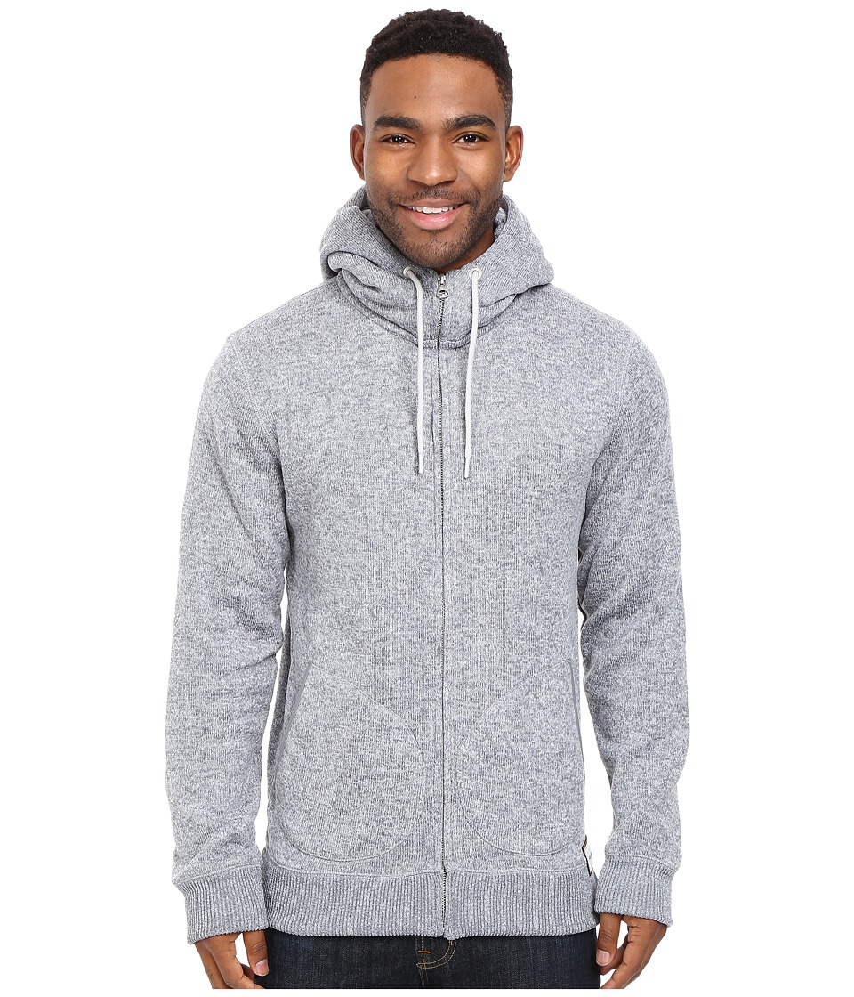 Quiksilver - Keller Zip Fleece (Light Grey Heather) Men's Fleece